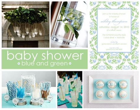 Blue And Green Themed Baby Shower by Blue And Green Baby Shower