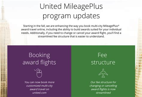 united airlines ticket change fee mileageplus award changes increased change fees stopover