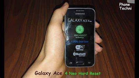 samsung galaxy ace  neo sm gh hard reset youtube