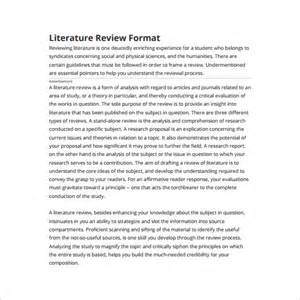 Template For Writing A Literature Review 6 literature review outline templates free word pdf