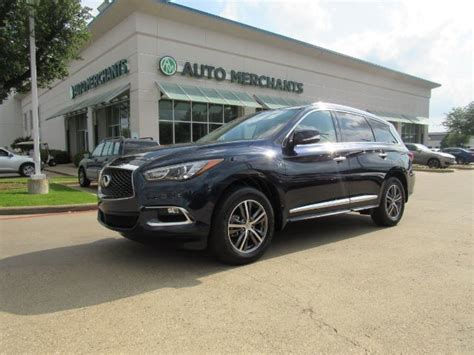 infiniti qx base fwd premium  package premium package leather sunroof  row
