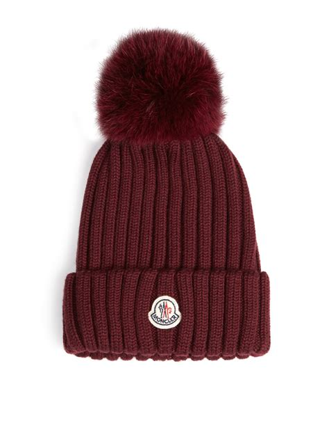 moncler womens bobble hat