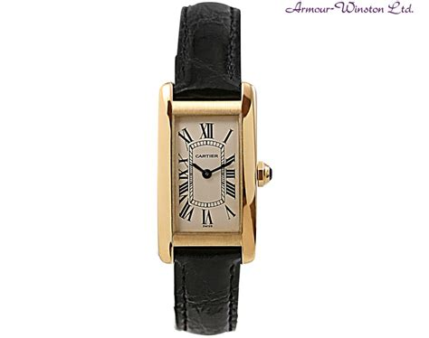 cartier tank yellow gold for sale armour
