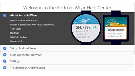 ordering an android wear smartwatch s android wear help center is loaded with the info - Android Help Center