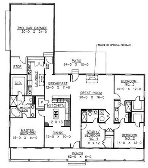Country Kitchen Floor Plans 17 Best Images About 4 Bedroom House Plans On Pinterest Vaulted Ceilings Layout And Modern