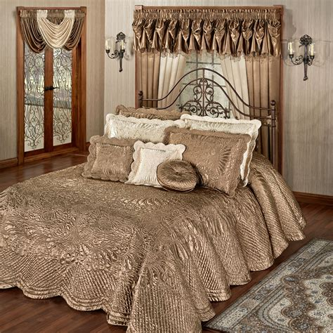 gold coverlet king oversized king bedspread gold style