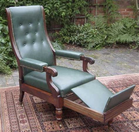 antique reclining wooden chair antique reclining library chair in the manner of robert