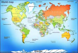 country on world map world map free large images