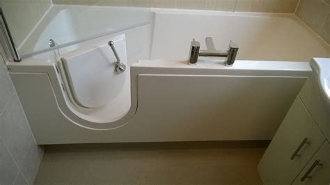 disabled shower bath disabled walk in bath installation in fife scotland new age kitchens and bathrooms fife