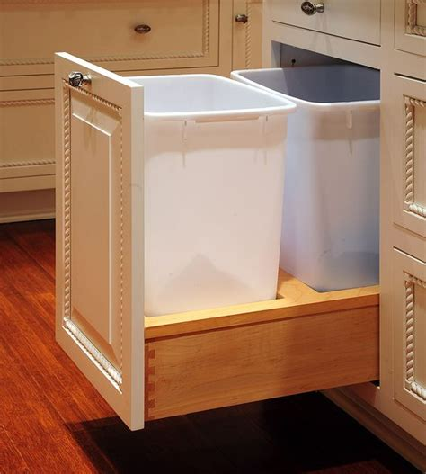 Waste Baskets For Kitchen Cabinets by Trash Bins Pictures Of And Custom Cabinets On