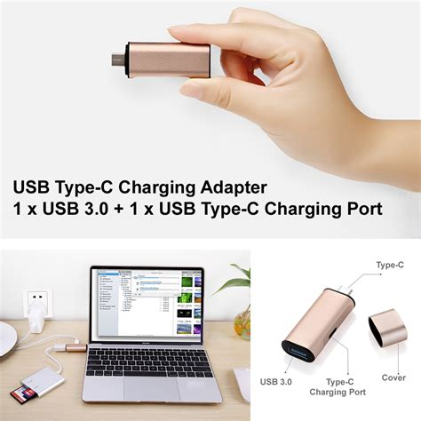 Mgaluminum Usb Type C To Usb 30 1 Meter Baseus T1310 usb type c charging adapter 1 x usb 3 0 1 x usb type c charging port
