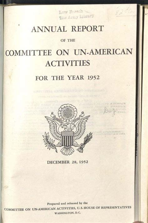 what did the house un american activities committee do the house un american activities committee oviatt library