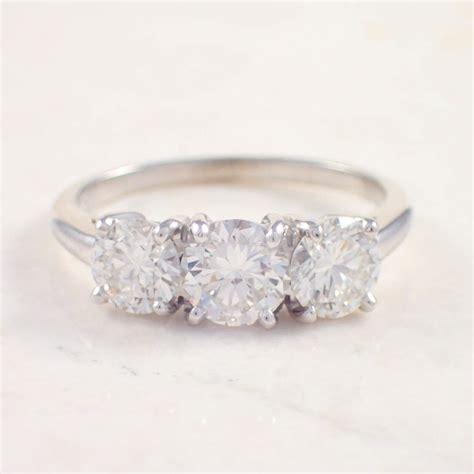 Estate Jewelry by Platinum Engagement Ring Attos Antique Estate