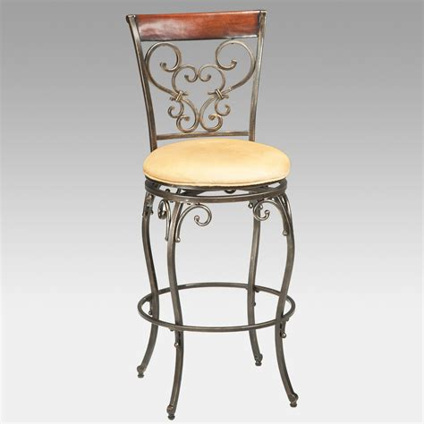 metal bar stools swivel with back hillsdale knightsbridge 26 in swivel counter stool with