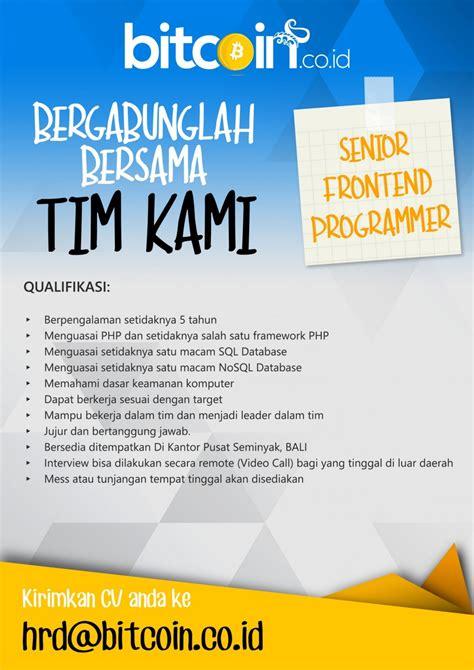 lowongan layouter majalah surabaya lowongan kerja pt bit coin indonesia senior frontend
