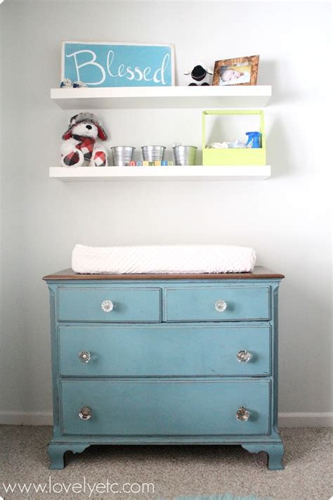 Using A Dresser As A Changing Table Dresser Update With Vintage Door Knobs Lovely Etc