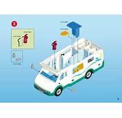 Notice De Montage  Playmobil 6671 Famille Avec Camping