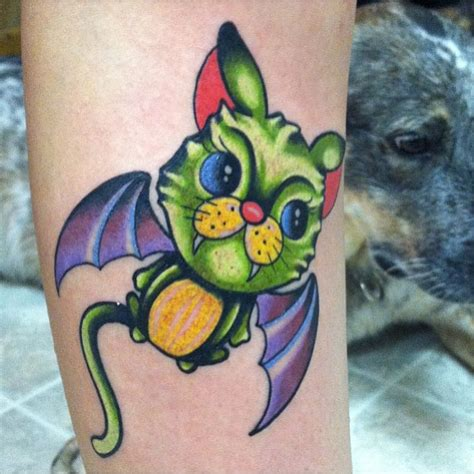 cartoon cat tattoo bat tattoos and designs page 210