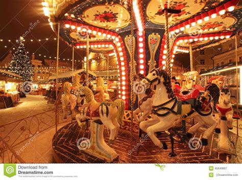 best christmascarpusel tallinn market with carousel stock photo cartoondealer 45649632
