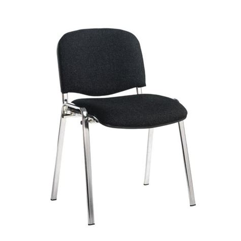 Stackable Conference Chairs - chair conference stackable chrome frame charcoal pk4