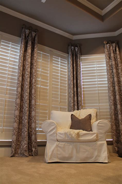 all you need for curtains i love the texture of these draperies who says shutters