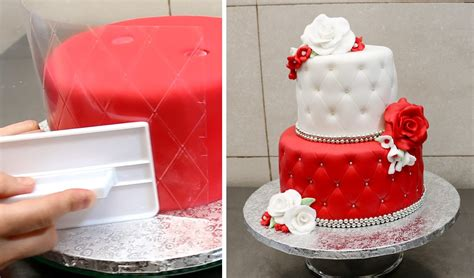 How To Quilt A Cake by Quilted Cake Decorating Idea By Cakesstepbystep