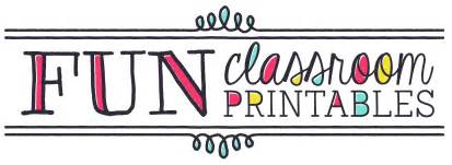 about fun classroom printables