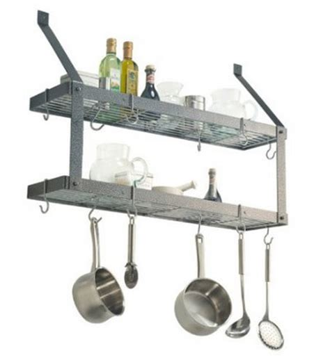 Pot Rack With Shelf by 10 Reasons To Add A Wall Mount Pot Rack For Storage