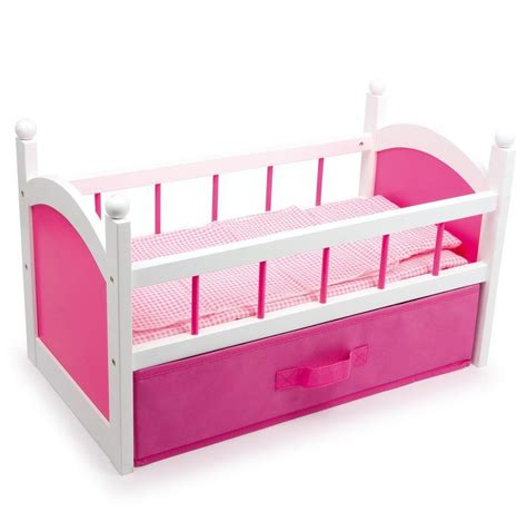 Doll Cribs And Beds New Dolls Wooden Set High Chair Rocking Crib Cot Bed Pram Pushchair Ebay
