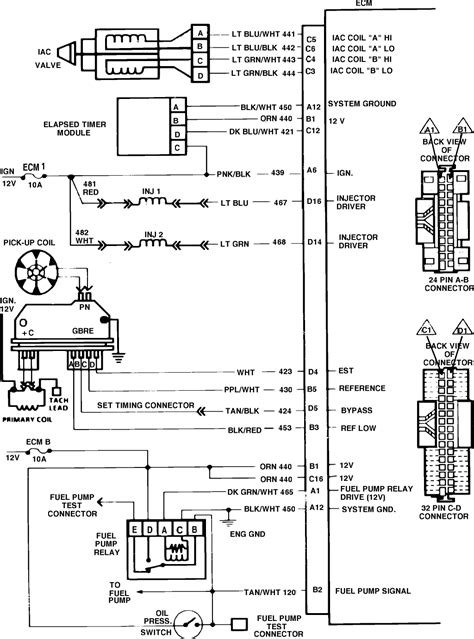 1986 chevy truck wiring diagram i need the wiring harness diagram for the computer to
