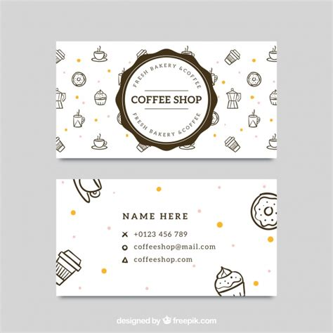Http Www Freepik Free Vector Coffee Business Card Template 1105489 Htm by Great Corporate Card For Coffee Shop Vector Free