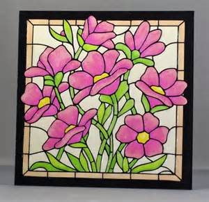 Glass Painting Outline Patterns by Lynne S Crafty Stained Glass Effect Tile
