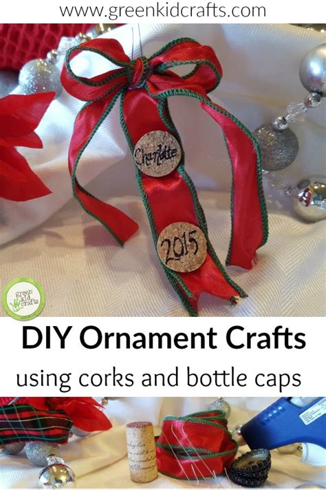 recycling ornament school prjuect ideas recycled cork and bottle cap diy ornaments monthly science and projects for