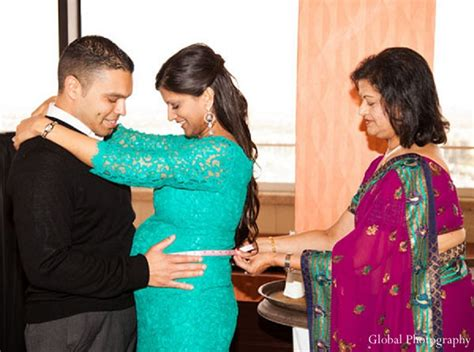 indian baby shower family portrait maharani weddings