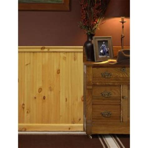 Pine Wainscoting Home Depot house of fara 8 ft america knotty pine tongue and groove wainscot paneling 32pkit