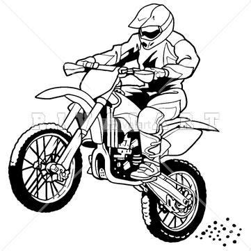 ktm motorcycle coloring pages sports clipart image of a motocross rider on a dirt bike