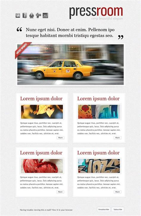 e newsletters templates 16 best newsletter templates images on