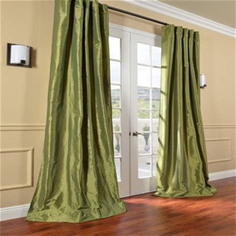 green taffeta curtains fern green solid faux silk taffeta 96 inch curtain panel
