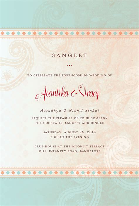 Exclusive Wedding Invitation Cards by Exclusive Wedding Invitation Cards Sangeet Cards Wedding