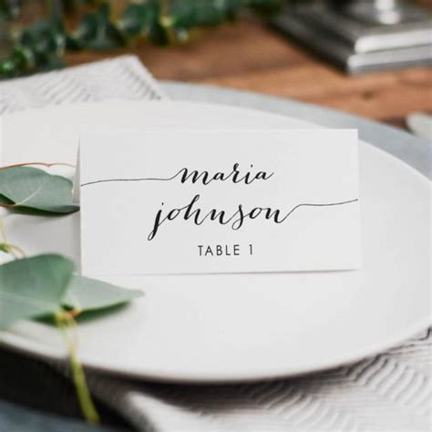 how to make place cards for weddings printed wedding place card 3 5x2 folded card