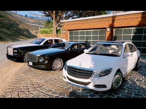 bentley mulsanne vs rolls royce phantom gta v mercedes maybach s600 vs bentley mulsanne vs