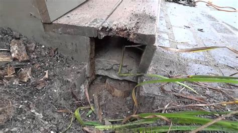 Decke Rot by How To Repair A Porch Install Deck Post Replace Wood Rot