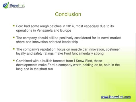 Ford Stock Forecast 2020 by Ford Stock Forecast For 2015 Based On A Predictive Algorithm