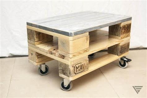 Euro Pallet Coffee Table On Wheels Pallet Coffe Table