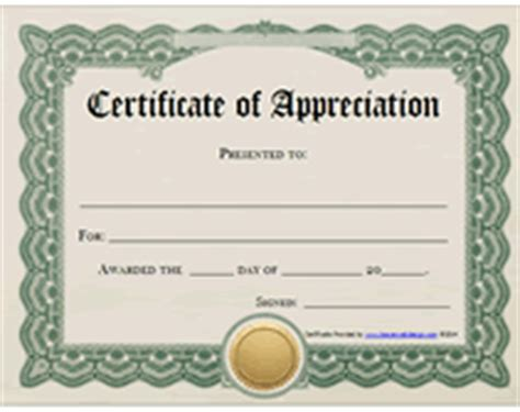 certificate of appreciation template free printable free printable certificates of appreciation awards templates