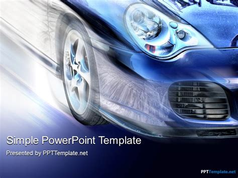 car powerpoint template free car speed ppt template