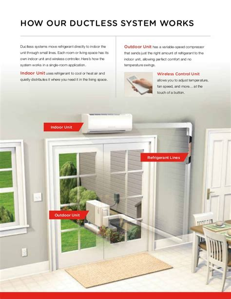 indoor comfort heating and cooling mitsubishi ductless home heating and cooling system