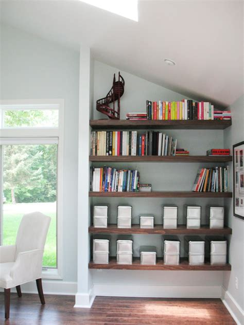 utilize spaces with creative shelves interior design