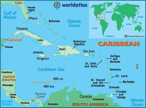 map of mexico showing cancun map of cancun caribbean island maps cancun map