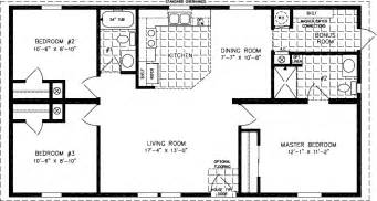 3 Bedroom 2 Bath Double Wide Floor Plans floorplans for manufactured homes 1000 to 1199 square feet